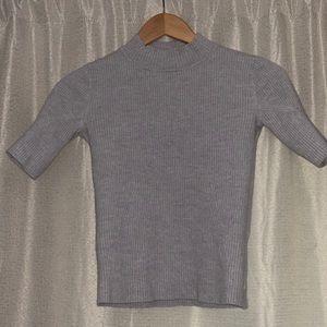 Marino wool sweater mock turtle neck